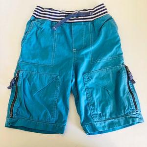 Mini Boden Lagoon Blue Techno Shorts